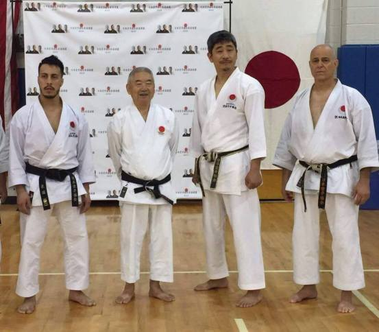 Andre Fiallos, Sensei Mikami, Sensei Okuma Sensei Ferrand